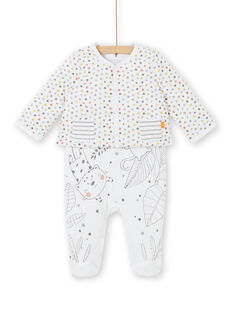 Completo in jersey imbottito morbido neonato unisex LOU1ENS6 / 21SF05H2ENS000