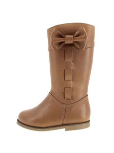 Girls' leather boots DFBOTTEBO2 / 18WK35T9D10804