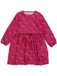 Girls' long-sleeved fluid dress DAROBE6 / 18W90186ROB099