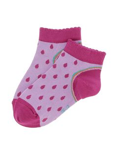 Girls' ankle socks CYAGAUCHO / 18SI01L1SOQ099