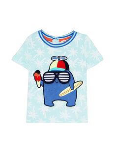 T-Shirt Maniche Corte Blu JUQUATI1 / 20SG10R1TMC210