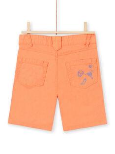 Bermuda arancioni bambino JOMARBER2 / 20S902P2BERE405