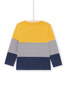 T-shirt gialla e navy bambino MOJOTIDEC2 / 21W90221TML113