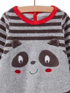 Tutina grigia con motivo panda neonato MEGAGREPAN / 21WH1483GREJ918
