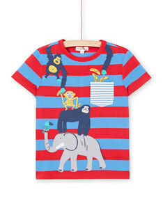 T-shirt a maniche corte blu bambino LOVITI2