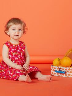 Abito a portafoglio rosso con stampa neonata JIVIROB1 / 20SG09D1ROBD327