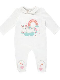 Tutina neonata bianca con colletto JEFIGRECLAU / 20SH13C3GRE000