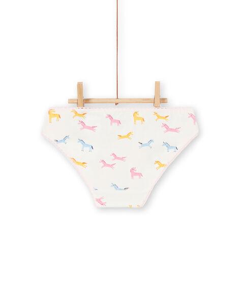 Set 3 slip bambina unicorni LEFALOTLIC / 21SH1121D5L001