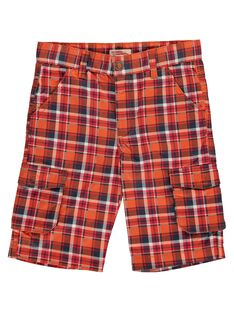 Boys' checked shorts COGAUBER5 / 18S902L3BER409