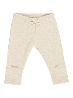 Baby girls' fleece leggings DIJOPAN2 / 18WG0938PANA010