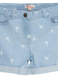 Shorts in jeans con stampa effetto scolorito palme JAJOSHORT3 / 20S901T1D30P272