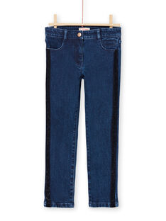 Jeans con fasce glitterate bambina MATUJEAN / 21W901K1JEAP274