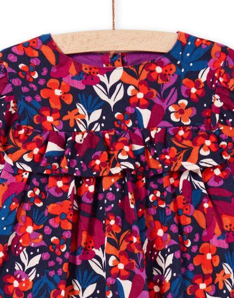Abito maniche lunghe con stampa a fiori colorata neonata MIPAROB1 / 21WG09H6ROBD319