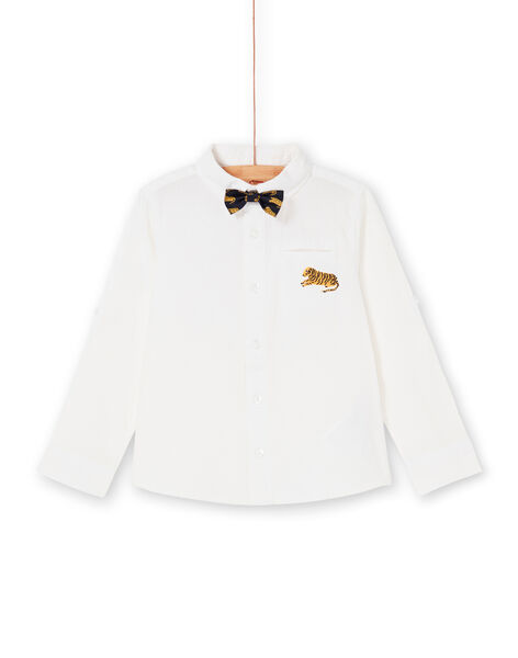 Camicia bianca con papillon bambino LOJAUCHEM1 / 21S902O2CHM000