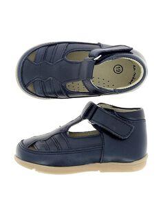 Baby boys' leather T-bar shoes CBGSALSAN2 / 18SK38W7D3H070
