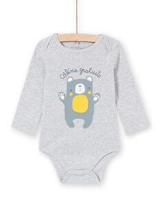 Body corredo bambino a maniche lunghe a righe grigio melange orsetto LEGABODCAL / 21SH142BBDLJ922