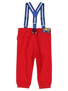 Pantaloni rossi con bretelle neonato FUCOPAN / 19SG1081PANF505