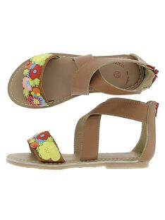 Girls' leather sandals CFSANDBROD / 18SK35W7D0E804