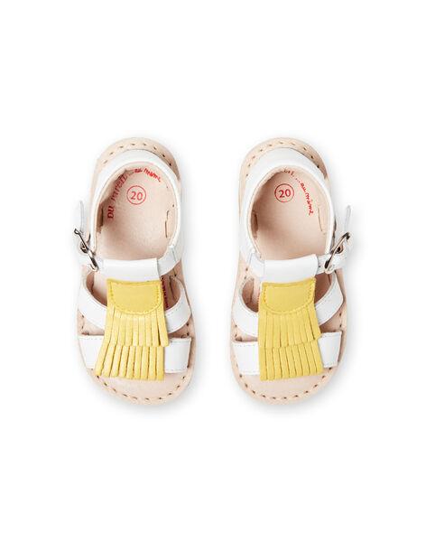 Sandali bianchi neonata LBFSANDALMA / 21KK3752D0E000
