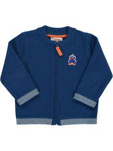 Baby boys' zipped cardigan DUJOGIL3 / 18WG1034GIL702