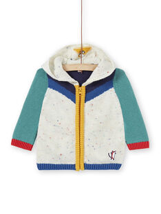 Cardigan in maglia colorblock neonato KULUGIL1 / 20WG10P1GIL001