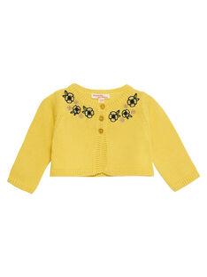 Cardigan in maglia giallo neonata JITROCAR / 20SG09F1CAR102