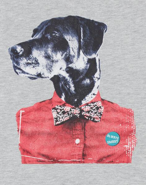 T-shirt grigio melange - maniche corte - Bambino LOJOTI2 / 21S90233TMCJ922