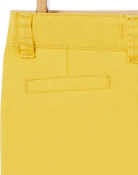 Pantaloni chino gialli in cotone bambino LOJOPACHI1 / 21S90231PAN102