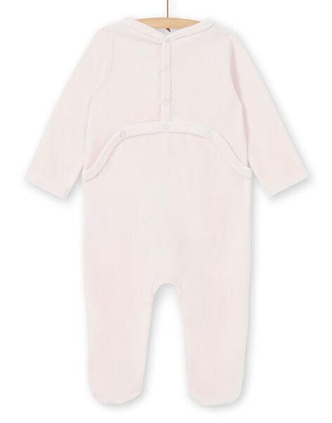 Tutina rosa in velluto neonata LEFIGRECHA / 21SH1351GRED308
