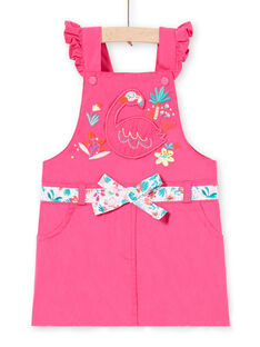 Abito salopette rosa neonata LIBONROB1 / 21SG09W2ROB302