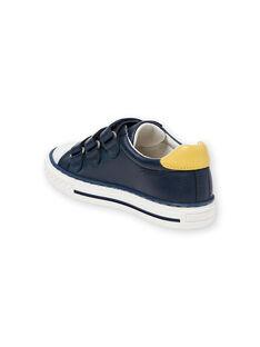 Sneakers navy e giallo bambino JGBASLIAGM / 20SK36Y1D3F070