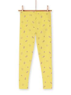 Leggings gialli bambina LYAJAULEG1 / 21SI01O1CAL116