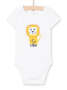 Body maniche corte bianco motivo leone neonato MEGABODLIO / 21WH14B4BDL000