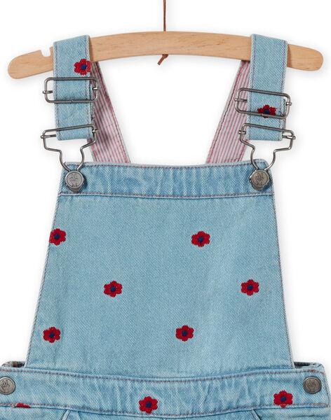 Abito salopette in jeans bambina LAHAROB1 / 21S901X2ROBP272