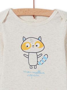 Body ecrù con motivo orsetto lavatore neonato MEGABODCOP / 21WH14C6BDL006