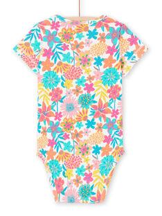 Body maniche corte con stampa a fiori neonata MEFIBODANI / 21WH13B6BDL001
