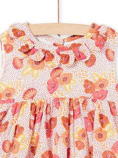Abito rosa, ecrù e giallo con stampa a fiori e pois LITERROB2 / 21SG09V1ROB001
