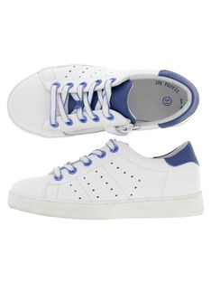 Boys' leather city trainers CGTENBICO / 18SK36W2D3G000