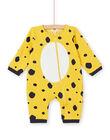 Pigiama neonata in tessuto felpato imbottito motivo leopardo LEFUCOMLEO / 21SH1411SPY106