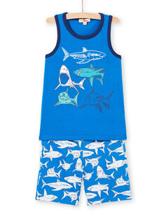 Completo da spiaggia blu bambino LOPLAENS4 / 21S902T2ENSC239