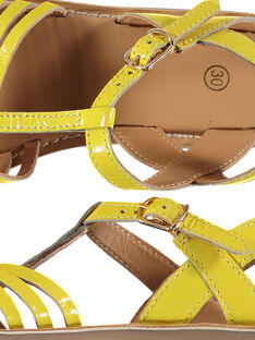Sandali da città in pelle verniciata bambina FFSANDOLI1 / 19SK35C4D0E010