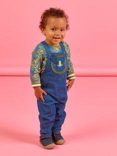 Salopette in jeans con motivo testa di leone neonato MUKASAL / 21WG10I1SALP274