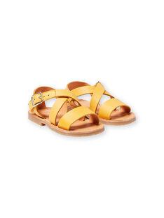 Sandali gialli neonata LBFSANDSUN / 21KK3758D0E010