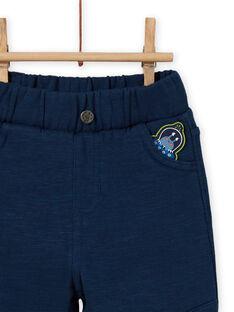 Pantaloni celesti con patch extraterrestre neonato MUPLAPAN1 / 21WG10O1PANC204