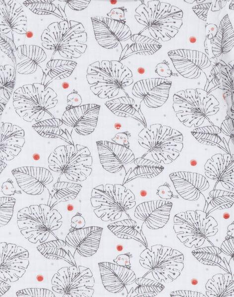 Tutina bianca e nera stampa foglie LOU1GRE1 / 21SF03H1GRE000