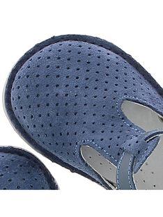 Baby boys' leather T-bar shoes CBGSALBASI2 / 18SK38W1D3HC218