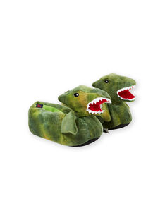 Pantofole 3D verdi dinosauro bambino KGBOOTSAUR / 20XK3681PTD600