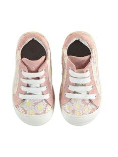 Sneakers rosa chiaro neonata JBFBASFLOW / 20SK37Y1D3F301