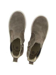 Boys' leather boots DGBOOTLIP / 18WK36T7D0D803
