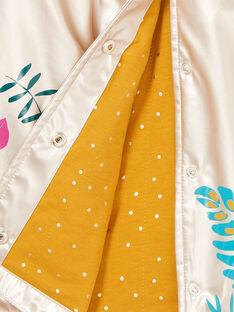 Impermeabile dorato e stampa a fiori LANAUIMPER / 21S901R2IMPK008